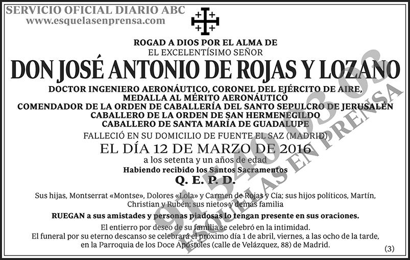José Antonio de Rojas y Lozano